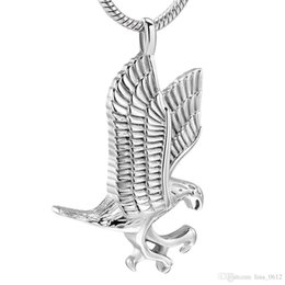 $enCountryForm.capitalKeyWord Australia - IJD10077 Pet Cremation Jewelry for Dog Cat Ashes Stainless Steel Eagle Memorial Urn Necklace Men Keepsake Pendant