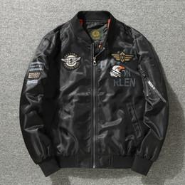 Angels Jackets NZ - USA Flag Army MA1 Bomber Jackets Men Blue Angels Flying Tigers Pilot Coats Windbreaker Hip Hop Men Cloth Dropshipping