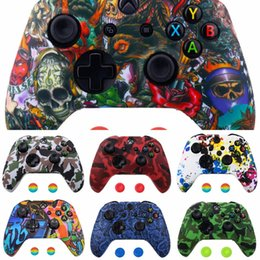 xbox thumb grips UK - XbCgF NEW 18 Colors for XBox One Controller for Skin Case + Analog Thumb S Grip Cap Silicone X Box One 1 X Stick Joystick