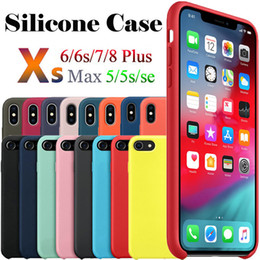 Logo For Iphone Australia - Have Original LOGO Silicone Phone Case For iPhone 7 8 Plus Liquid Silicone Case Cover For iPhone X XR XS Max With Package