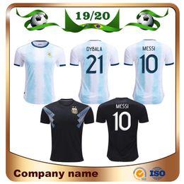 China 2019 Copa America Argentina Soccer Jersey 19 20 Argentina Home #10 MESSI Soccer Shirt AGUERO ICARDI DI MARIA Away Football Uniform Sales cheap jerseys uniform argentina suppliers