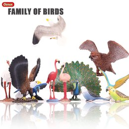 $enCountryForm.capitalKeyWord Australia - figure toy Oenux Bird Animals Flamingos Macaw Pelican Flamingo Snowy Owl Bird World Solid PVC Model Action Figures Toy For Kids Xmas Gift
