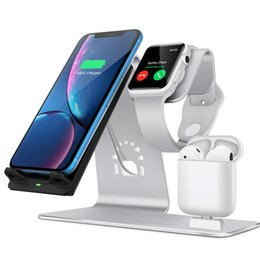 $enCountryForm.capitalKeyWord Australia - Bestand best seller Aluminum 3 in 1 Wireless Charger stand For iPhone Qi Fast Charge Dock Station Vertical for iWatch AirPods