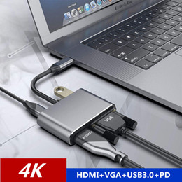 $enCountryForm.capitalKeyWord Australia - 4 IN 1 USB C 3.1 Type c to HDMI 4K VGA USB3.0 Audio and video adapter With PD 87W Fast charge For Macbook pro Samsung s8 s9 s10