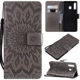 Iphone V5 Australia - Leather Wallet Case For Sony L3 MOTO G7 POWER LG G8S ThinQ V5 Samsung A50 A30 A20 Imprint Butterfly Sun Flower Cat Tree Card Slot Flip Cover