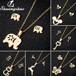 $enCountryForm.capitalKeyWord Australia - Shuangshuo Animal Elephant Necklaces & Pendants Jewelry For Women Gold Choker Necklace Long Chain Stainless Steel boho collier