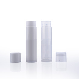 sample lipsticks Canada - 50pcs Lipstick Tube Empty Lipgloss Tubes White Clear 5ml Plastic Lip Balm Container Small Makeup Sample Storage Travel Bottles
