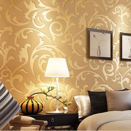 $enCountryForm.capitalKeyWord Australia - Gold and silver simple European environmental protection 3D stereo non-woven decorative living room bedroom luxury wallpaper