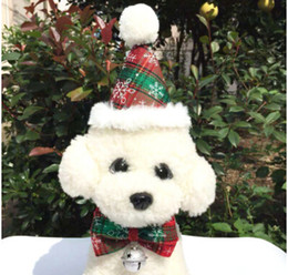$enCountryForm.capitalKeyWord Australia - Free Shipping Hot Pet Christmas Hat Dog Bell Bow Christmas Dog Cat Costumes Pet Puppy Kitten Bowknot Hair Ornament