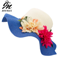 a3f71566 Fashion Mother Daughter Hat Lady Wide Large Brim Floppy Summer Beach Sun  Straw Hat Cap with Flower Free Shipping C015