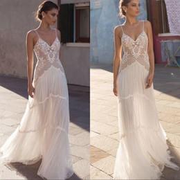 $enCountryForm.capitalKeyWord NZ - 2019 Wedding Dresses Spaghetti Lace Applique Backless Boho Bridal Gowns Beach Boho Plus Size Wedding Dress Robe De Mariée