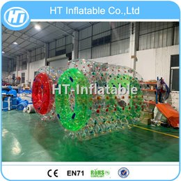 $enCountryForm.capitalKeyWord Australia - Free Pump ! PVC Material Inflatable Hamster Wheel Water Roller For Summer Water Floating Games Water Rolling Ball