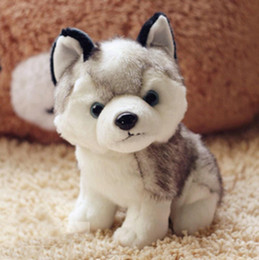 plush dog stuffed wholesale Australia - Husky dog plush toys small stuffed animals doll toys 18cm Gift Children Christmas Gift Stuffed Plush toys free shiping