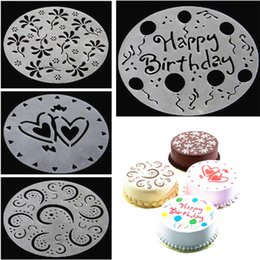 $enCountryForm.capitalKeyWord Australia - 4Pcs Set Plastic Cake Stencils Flower Spray Stencils Cake Mold Decorating DIY Mould Fondant Template For Baking Kitchen