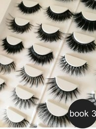 Wholesale Hair Labels Australia - New factory direct sale 3d mink hair lashes 3d silk hair eyelashes with private label High quality with lower price 16 pairs eyelashes