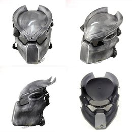 alien lamps UK - Alien Vs Predator Lonely Wolf Mask With Lamp Outdoor Wargame Tactical Mask Full Face Cs Mask Halloween Party J190710