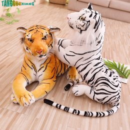 $enCountryForm.capitalKeyWord Australia - 30-90cm Soft Simulation Tiger Stuffed Plush Toys Pillow Cartoon Animal Big Pattern Kawaii Doll Children Kids Xmas gifts