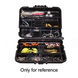 Plastic Fishing Lure Box Case NZ - 12cmX10cmx3.4cm Practical Double Layer Lure Box Hard Plastic Fishing Bait Case Fishing Tackle Tool Container #664276
