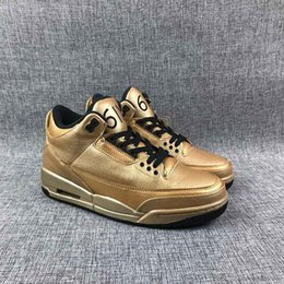 603eba3ab0a 3 Drake Gold OVO 6ix Bio Beige Basketball Shoes High Quality 3s JTH NRG all  Gold leather Mens Casual Shoes Sneakers with box
