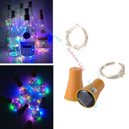 bottle lights UK - DHL 1M 10LED copper strip Lamp Cork Shaped Bottle Stopper Light Glass Wine LED Copper Wire String Lights For Xmas Party Wedding