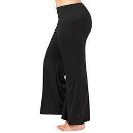 3e79671f7801e Rosegal Women Summer Wide Leg Long Pants Casual Loose Palazzo Trousers Plus  Size Maxi Palazzo Pants Mid Elastic Waist Pants Y19070101