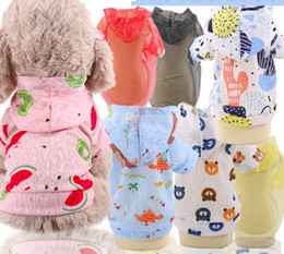 $enCountryForm.capitalKeyWord Australia - Summer 2019 breathable cute multi-color fruit pet clothes, sunscreen vest, dog supplies, hoodies for small and medium-sized dogs