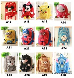 kids school bags spiderman Australia - 3D Plush Cartoon Bags Chi's Cat spiderman superman Backpack Children School Bags Animal Bag for 1-3 Years Old Kindergarten Kids Girl