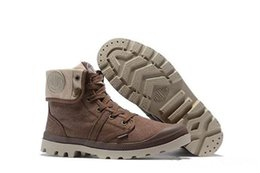 Palladium Medium Shoe Boots NZ - Hot sale designer shoes PALLADIUM Pallabrouse Mens High-top Army Military Ankle boots Canvas Sneakers Casual Shoes Man Anti-Slip sport Shoes