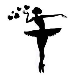 Dancing material online shopping - 13CM CM Interesting Sport Gymnastics Dance Fitness Silhouette Vinyl Car StickerCA