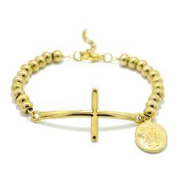 $enCountryForm.capitalKeyWord Australia - New Stainless Steel Beads Bracelet &Bangle For Women Men Christian Jewelry Bible Virgin Mary Pulseiras Rosary Cross Bracelets