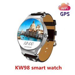 waterproof 3g smart phone watch Canada - KingWear Smart Watch 3G Smartwatch Phone Android 5.1 1.39 inch MTK6580 Quad Core 1.0GHz 8GB ROM GPS Heart Rate Measurement Pedometer KW98 BA