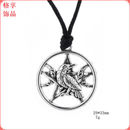 $enCountryForm.capitalKeyWord Australia - Crow Necklace Odin's Ravens Bird Pendant Necklace Totem Women Men Mythology Amulet Talisman Jewelry Norse Viking Necklaces