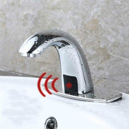 ElEctric taps online shopping - Hot Cold Bathroom Automatic Touch Free Sensor Faucets water saving Inductive electric Water Tap mixer battery power