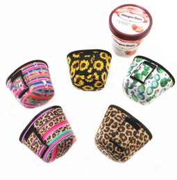 Ice holders online shopping - Neoprene Ice Cream Cover Leopard Print Sunflower Can Cooler Covers Cactus Lolly Bags Ice Cream Holder Case Tools GGA2245