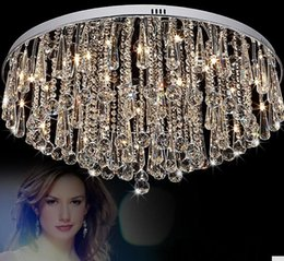 crystal ceiling lights fashion lighting Canada - Modern Fashion G4 Led Bulb Ceiling Light Fixture Home Deco Living Room Various Crystal Ceiling Lamp Luxury Stainless Steel Lamps Llfa