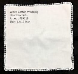 "$enCountryForm.capitalKeyWord Australia - Set of 12 New Fashion Ladies Handkerchiefs White 100% Cotton Lace Wedding Bridal Hankie Hanky For Special Occasions 12x12""-inch"