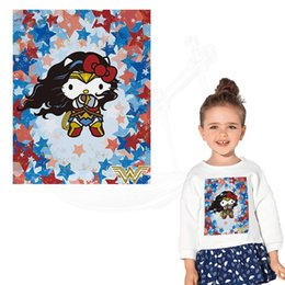 $enCountryForm.capitalKeyWord UK - Lovely Wonder Woman Iron on Patches For Clothing 26*20.5 cm DIY child T-shirt jacket hoodie Grade-A Thermal transfer stickers