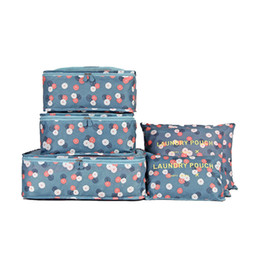 $enCountryForm.capitalKeyWord Australia - 6pcs Korean Travel Storage Bags Portable High Capacity Clothes Bag Lovely Clothes Packing Bag Pouch Luggage Organizer Container