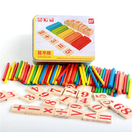 $enCountryForm.capitalKeyWord Australia - Montessori Toys Children Early Educational Learning Puzzle Toys Wooden Counting Sticks for Child Math Toy with Iron Box
