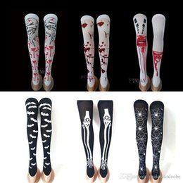 $enCountryForm.capitalKeyWord NZ - Halloween Blood Stockings Socks Women Cosplay Party Spider Bloody Bone Skull Scary Socks