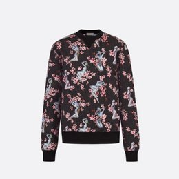 floral print cotton Australia - 19SF Luxury European Sweatshirt Floral Printing Logo Fashion Cotton Comfortable Long Sleeve Women Men's Designer Sweater HFKYTX012