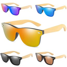 Designer bamboo sunglasses online shopping - Brand Designer Vintage Bamboo Sunglasses Wood Legs Polarized Sun Glasses Women Men Teenages Beach Outdoor Sports Colored Glasses A52903