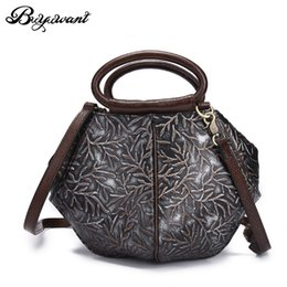 Hand painted women body online shopping - Buyuwant Genuine Leather Handbag Women Shoulder bags hand painted retro messenger bags Cowhide Cross Body bag GN SB yhycfg