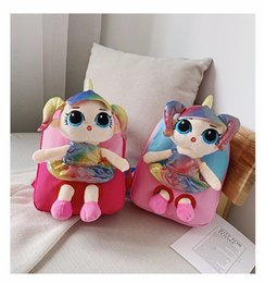 $enCountryForm.capitalKeyWord Australia - Doll plush backapck little girl princess school bag plush toy kids children kindgarten shoulder bag party favorgift bag FFA2542