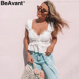 c4e6a46fdb Ladies high neck Lace bLouse online shopping - Beavant Vintage Up V Neck  Peplum Shirt Top