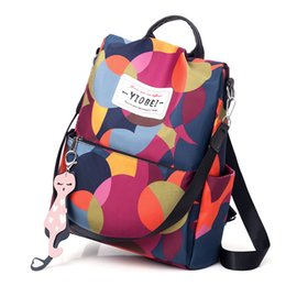 $enCountryForm.capitalKeyWord Australia - Women\'s Anti-theft Backpack Oxford Cloth Waterproof Female Shoulder Bag Large Capacity Fashion Travel Bag Student Campus Package Y19061102