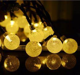 $enCountryForm.capitalKeyWord UK - Warm White 50 LEDs Bubble Ball Outdoor String Lights Solar Power Coloured Lantern Decorative Lighting Indoor Garden Home Wedding