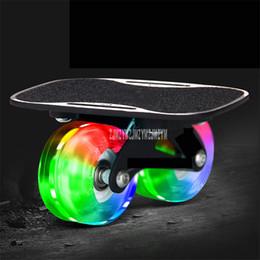 $enCountryForm.capitalKeyWord Australia - Small Mini Drift Board Two PU Wheel Aluminum Alloy Split Skateboard PU Wheel For Roller Road Drift Skate Board Skates Sport