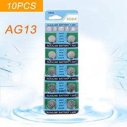 Vente en gros Super préférentielle 10PCS / CAR Pile alcali AG13 Pile bouton AG13 LR44 SR44SW SP76 L1154 RW82 RW42 357A pour la vente en gros 39