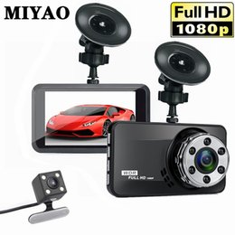 dual car dvr rear front UK - Car DVR Vehicle Camera Dash Cam Dual Lens Full HD 1080P Front+Rear Night Vision Video Recorder G-sensor Parking Monitor DashCam